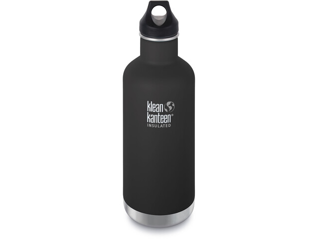 Klean Kanteen Classic Vacuum Insulated Bottle Loop Cap 946ml Shale Black Matt